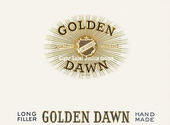 Golden Dawn inner cigar label