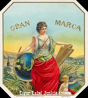 Gran Marca outer cigar box label