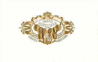 Grand Bruxelles top sheet cigar box label