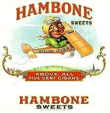 hambone inner cigar box label