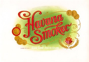 Havana Smoker inner cigar label