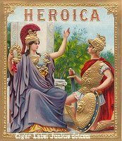 Heroica outer cigar box label