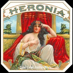 Heronia outer cigar label