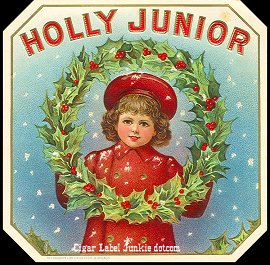 Holly Junior-outer cigar label