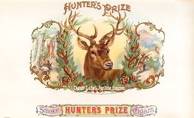 Hunters Prize inner cigar label
