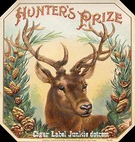 Hunters Prize outer cigar box label