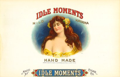 Idle Moments-inner cigar label