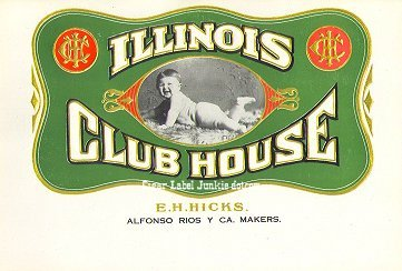 Illinois CH inner cigar label