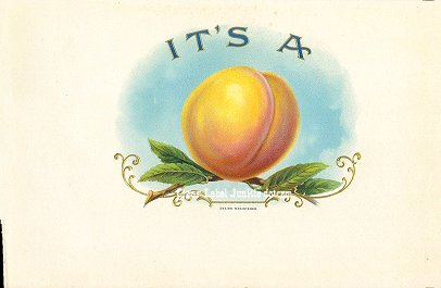 Its A Peach-inner cigar label