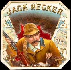 Jack Necker outer cigar label