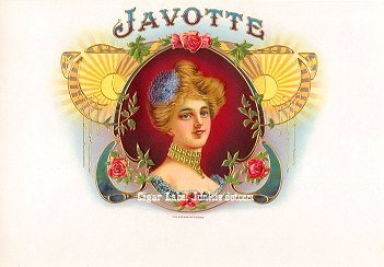 Javotte inner cigar label