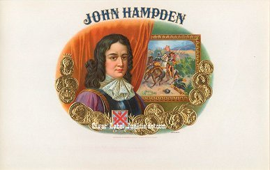John Hampden inner cigar label