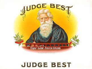 Judge Best inner cigar label