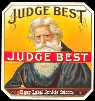 Judge Best outer cigar box label