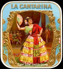 La Cantarina outer cigar label