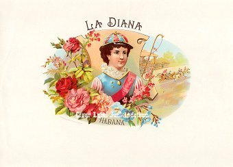 La Diana inner cigar label