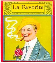 La Favorite outer cigar label