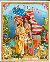 La Fuga outer cigar label