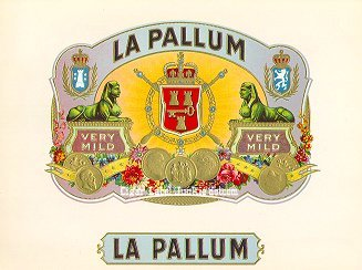 La Pallum inner cigar label