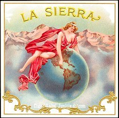 La Sierra outer cigar label