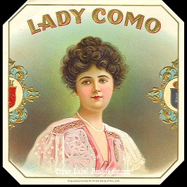 Lady Como-outer cigar label