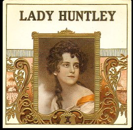 Lady Huntley-outer cigar label