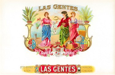 Las Gentes inner cigar label