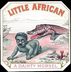 Little African outer cigar label