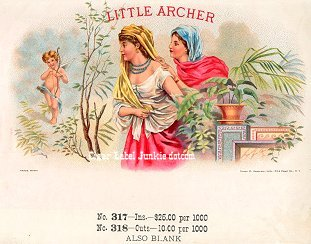 Little Archer inner cigar label