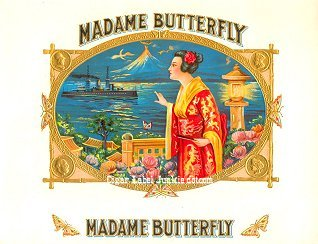 Madame B inner cigar label