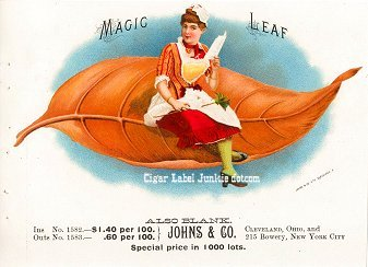 Magic Leaf inner cigar label