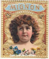 Mignon outer cigar label