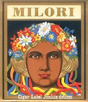 Milori outer cigar box label