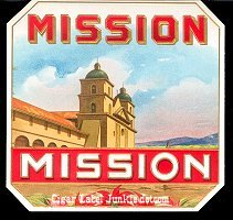 Mission outer cigar box label