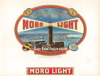 Moro Light inner cigar label