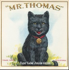 Mr Thomas outer cigar label
