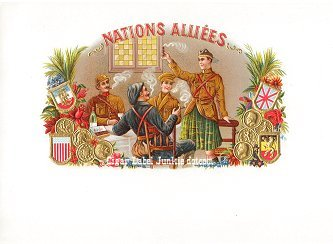 Nations Alliees inner cigar label