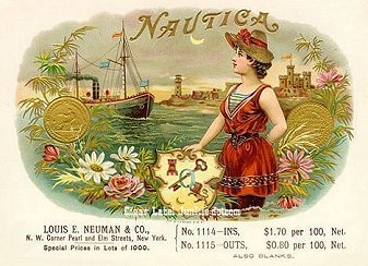 nautical cigar box label theme