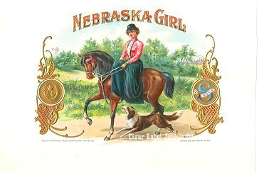 Nebraska Girl inner cigar label