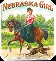 Nebraska Girl outer cigar box label