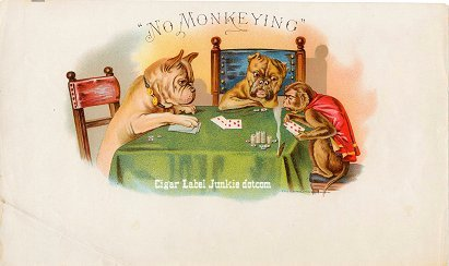 No Monkeying inner cigar label