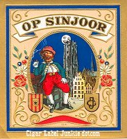 OP Sinjoor outer cigar box label