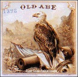Old Abe- cigar box label