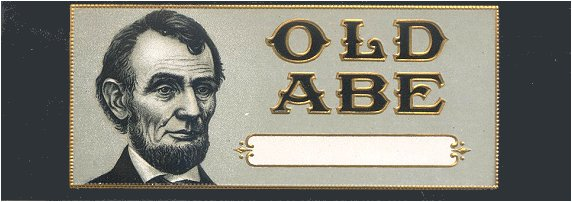 Old Abe outer cigar label