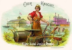 Our Knight inner cigar label