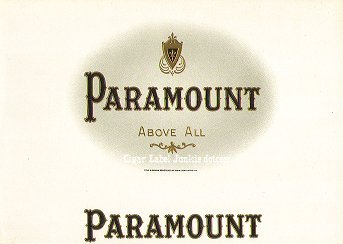 Paramount inner cigar label