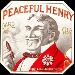 Peaceful Henry outer cigar label