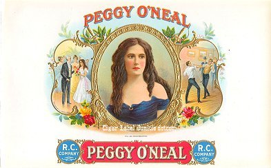 Peggy O'neal inner cigar label