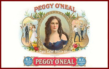 Peggy O'Neal inner cigar box label