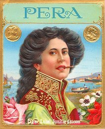 Pera outer cigar label